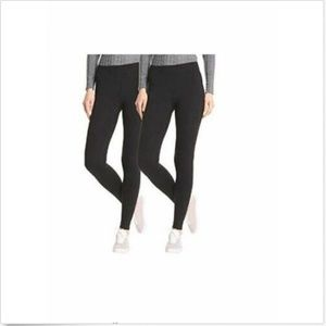 Hue Women Perfect Fit Cotton Leggings 2 pk Black S